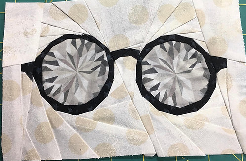 Glasses 1 Foundation Paper Piecing Pattern