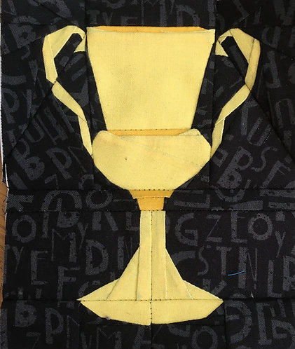 Hufflepuff Horcrux Cup Foundation Paper Piecing