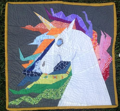 Unicorn Head Foundation Paper Piecing Pattern