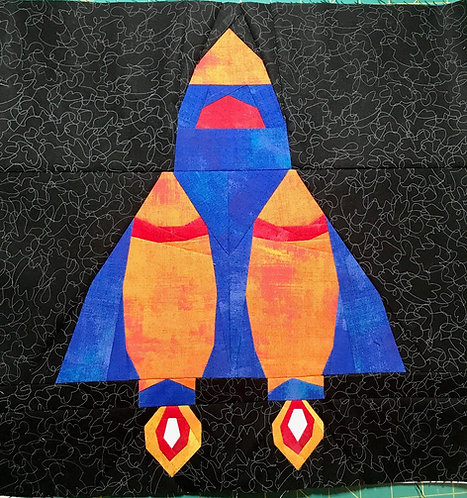 Rocket Space Ship Foundation Paper Piecing Pattern