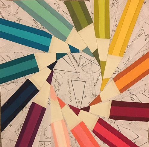 Colored Pencils Foundation Paper Piecing Pattern