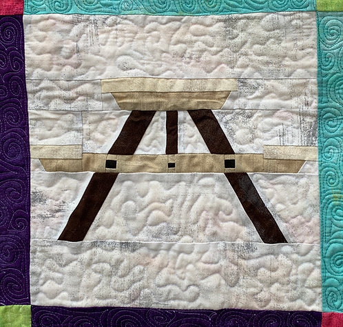 Picnic Table Foundation Paper Piecing Pattern