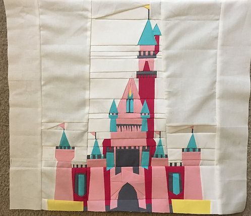 Whimsical Princess Castle Foundation Paper Piecing Pattern