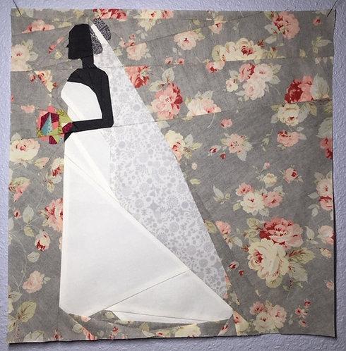 Bride Wedding Foundation Paper Piecing Pattern