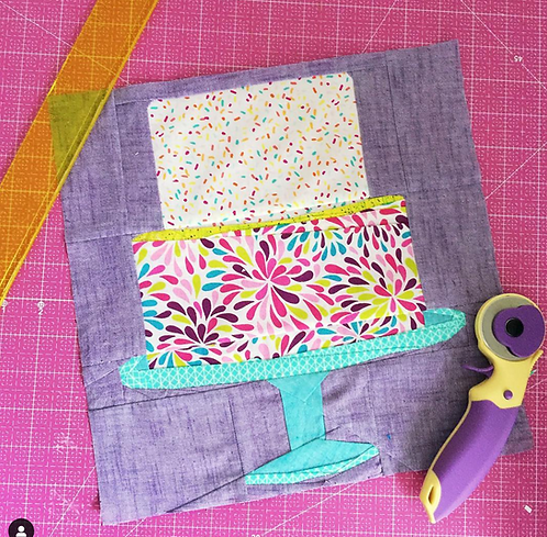 Tiered Cake Foundation Paper Piecing Pattern