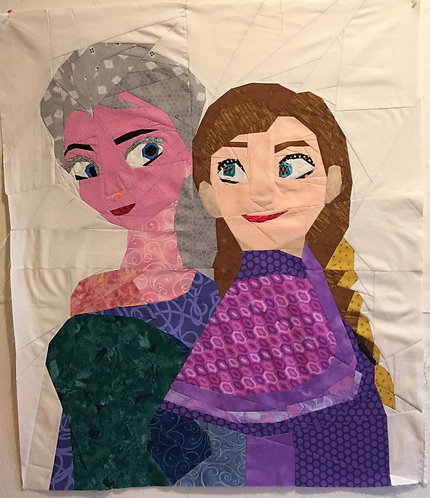 Elsa and Anna Frozen Foundation Paper Piecing Pattern