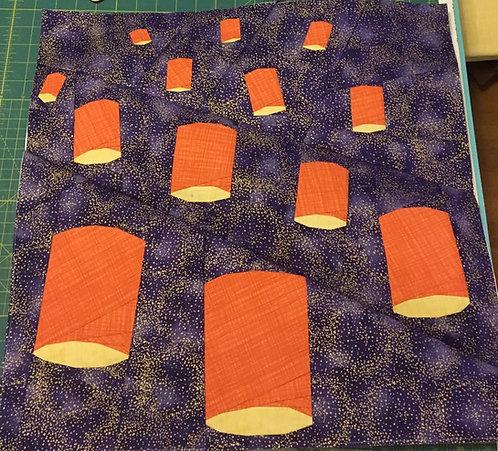 Floating Lanterns Foundation Paper Piecing Pattern