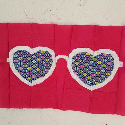 Glasses 3 Foundation Paper Piecing Pattern