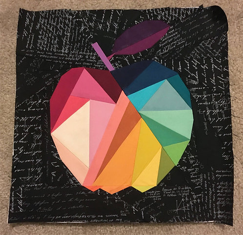 Geometric Apple Foundation Paper Piecing Pattern