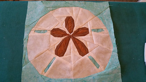 Sand Dollar Foundation Paper Piecing Pattern