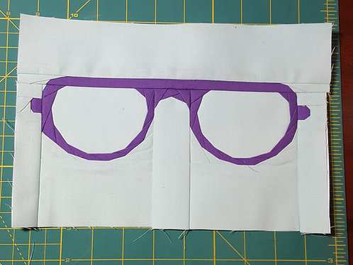 Glasses 5 Foundation Paper Piecing Pattern
