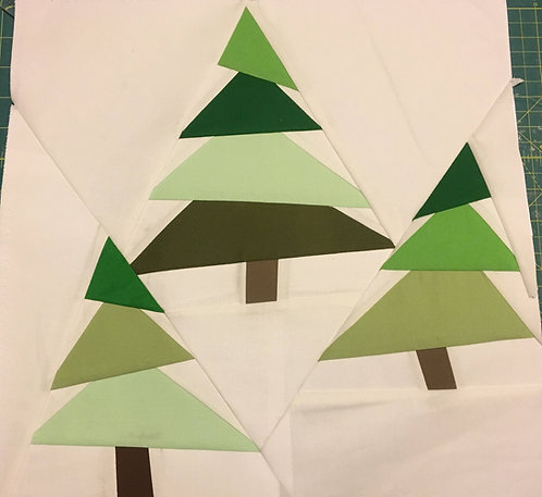 Christmas Trees Foundation Paper Piecing Pattern