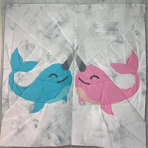Kissing Narwhals Foundation Paper Piecing Pattern