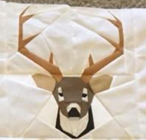 Deer Head Foundation Paper Piecing Pattern