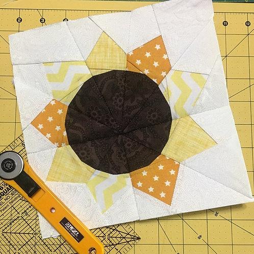 Sunflower Foundation Paper Piecing Pattern