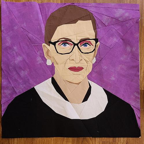 Ruth Bader Ginsburg Portrait Foundation Paper Piecing Pattern