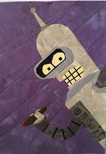 Bender Robot Foundation Paper Piecing Pattern