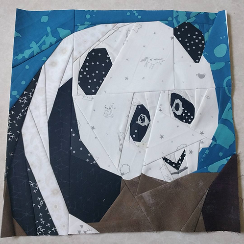 Panda Foundation Paper Piecing Pattern