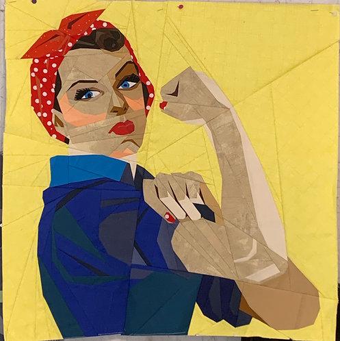 Rosie the Riveter Foundation Paper Piecing Pattern