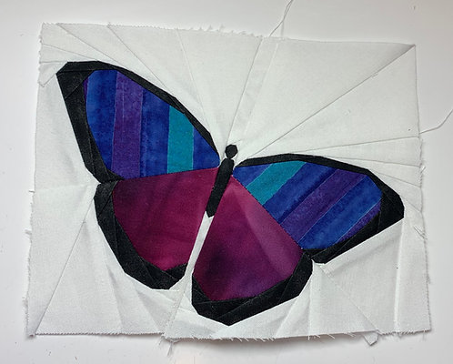 Simple Butterfly Foundation Paper Piecing Pattern