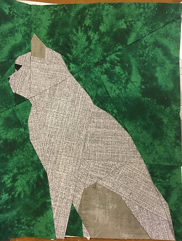 Cat Side Profile Foundation Paper Piecing Pattern