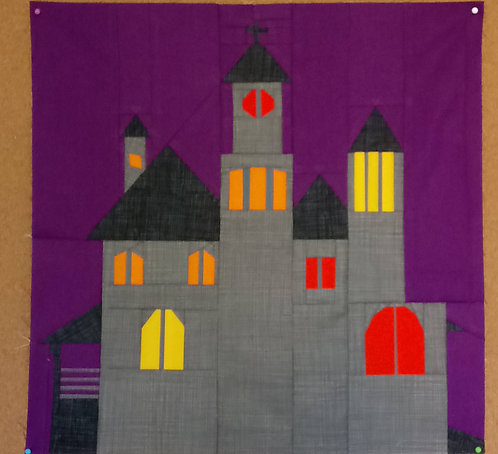 Haunted House foundation Paper Piecing Pattern