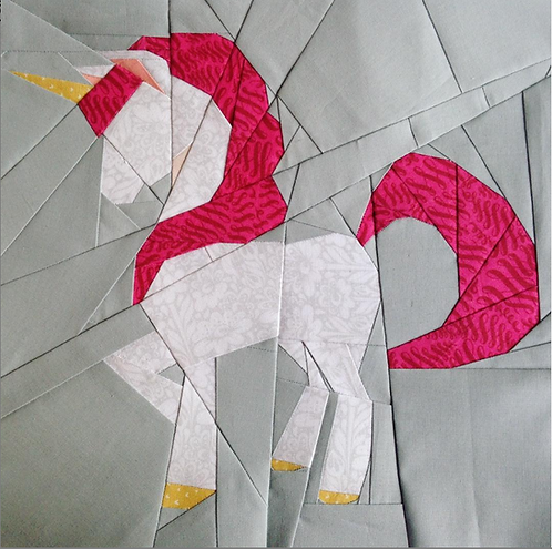Unicorn Foundation Paper Piecing Pattern