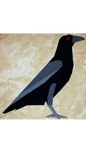Crow Bird Foundation Paper Piecing Pattern