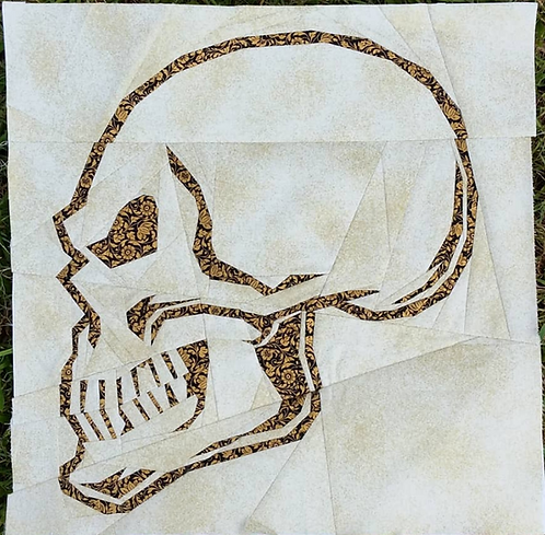 Skull Skeleton Foundation Paper Piecing Pattern