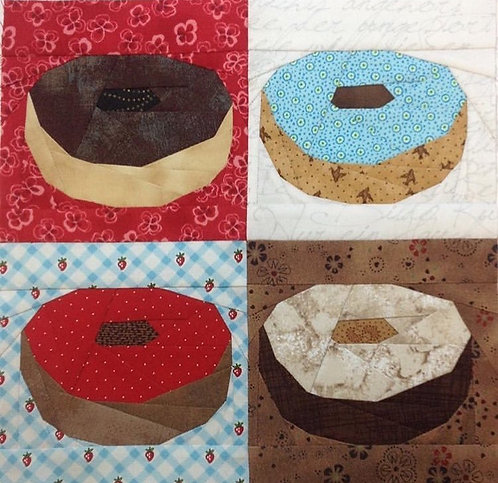 Basic Donut Foundation Paper Piecing Pattern