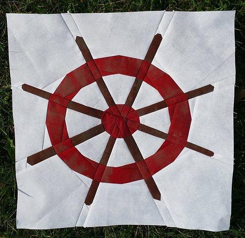 Ship Wheel Foundation Paper Piecing Pattern