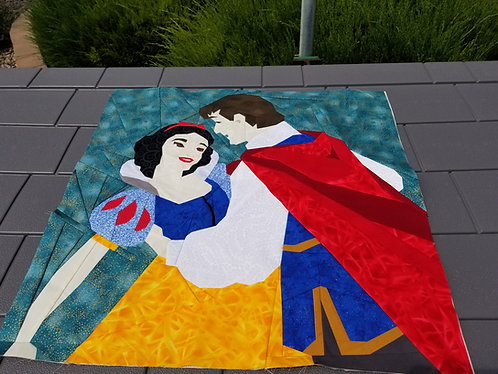 Snow White and Prince Charming Foundation Paper Piecing Pattern