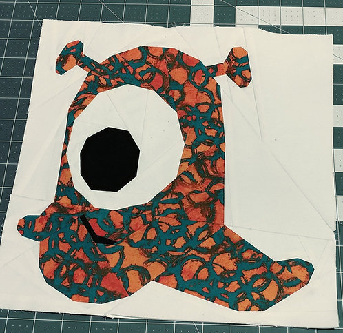 Monster Alien 6 Outer Space Foundation Paper Piecing Pattern