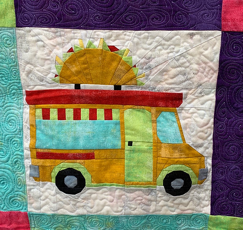Taco Food Truck Foundation Paper Piecing Pattern