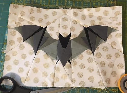 Bat Foundation Paper Piecing Pattern