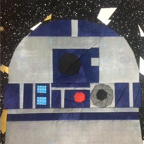 R2D2 Droid Star Wars Foundation Paper Piecing Pattern