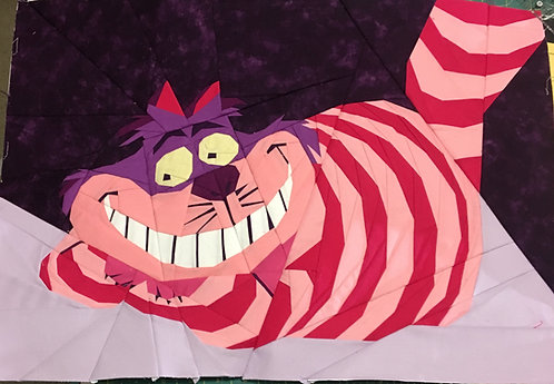 Cheshire Cat Alice and Wonderland Foundation Paper Piecing Pattern