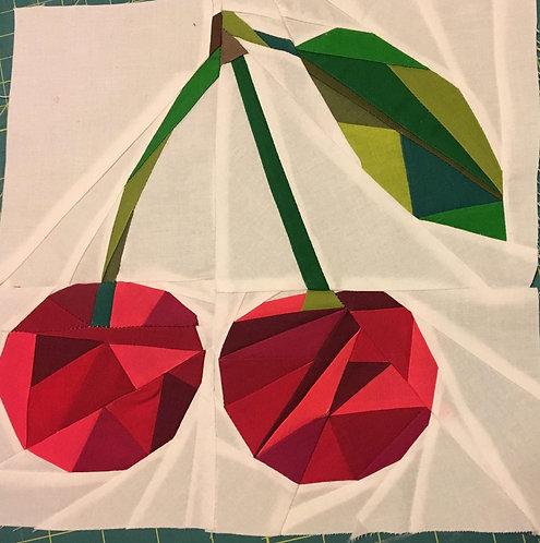 Geometric Cherry Foundation Paper Piecing Pattern
