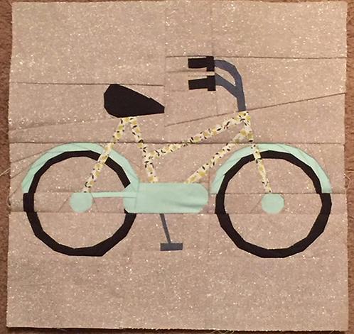 Bike Foundation Paper Piecing Pattern
