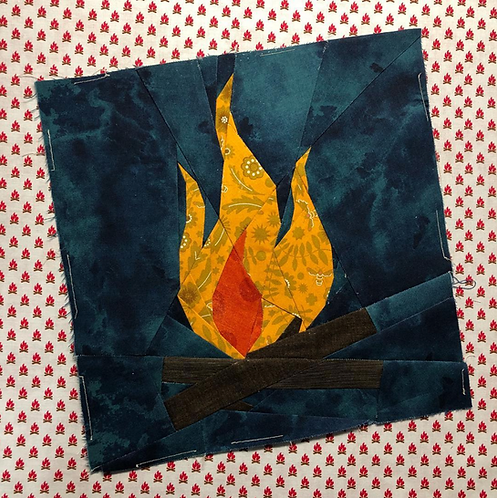 Campfire Foundation Paper Piecing Pattern