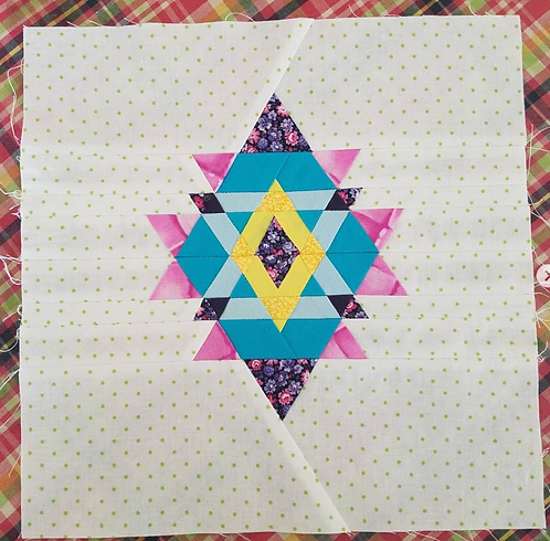 Diamond Triangle Foundation Paper Piecing Pattern