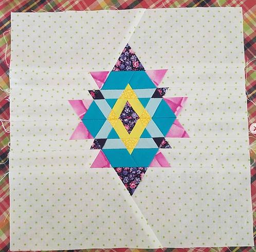 Diamond Triangle Foundation Paper Piecing Pattern