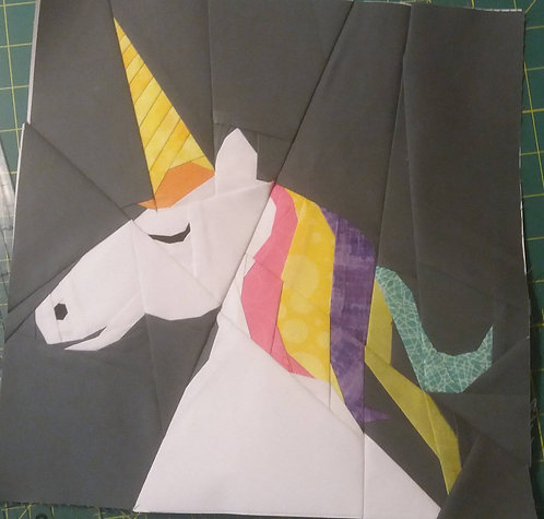 Calm Unicorn Foundation Paper Piecing Pattern