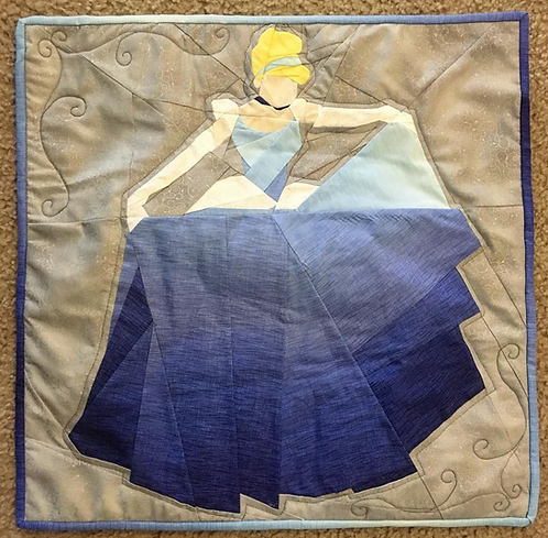 Ball Gown Princess Foundation Paper Piecing Pattern