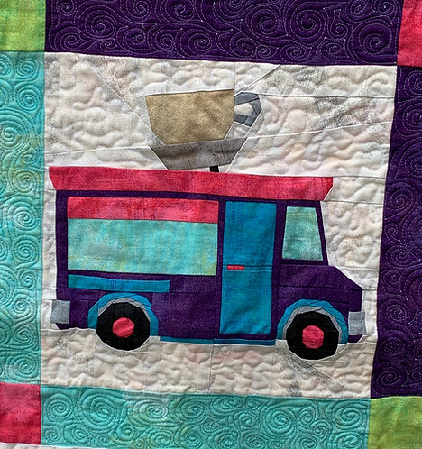 Coffee Food Truck Foundation Paper Piecing Pattern