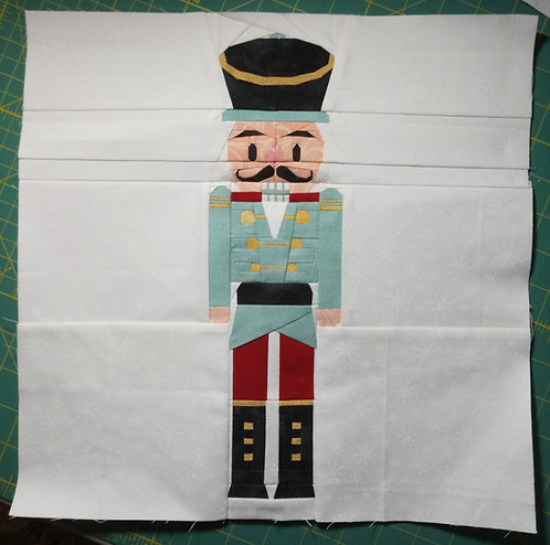 Christmas Nutcracker Soldier Foundation Paper Piecing Pattern