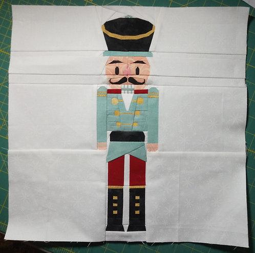 Christmas Nutcracker Soldier Foundation Paper Piecing Pattern