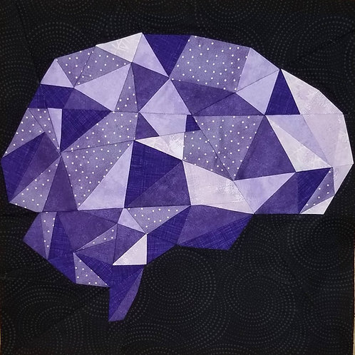 Brain Geometric Organ Foundation Paper Piecing Pattern