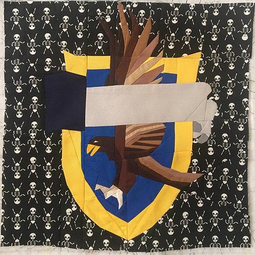 Ravenclaw Hogwarts House Crest Foundation Paper Piecing Pattern