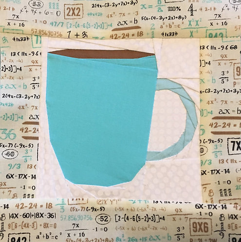 Mug Coffee Tea Foundation Paper Piecing Pattern